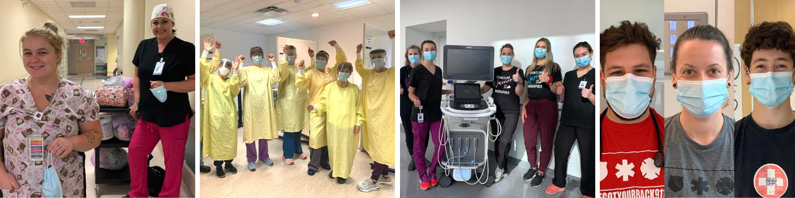 various staff in differing areas of the hospital