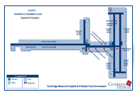 Map of the hospital fourth floor