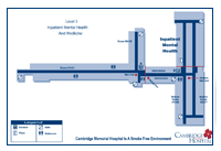 Map of the hospital fifth floor