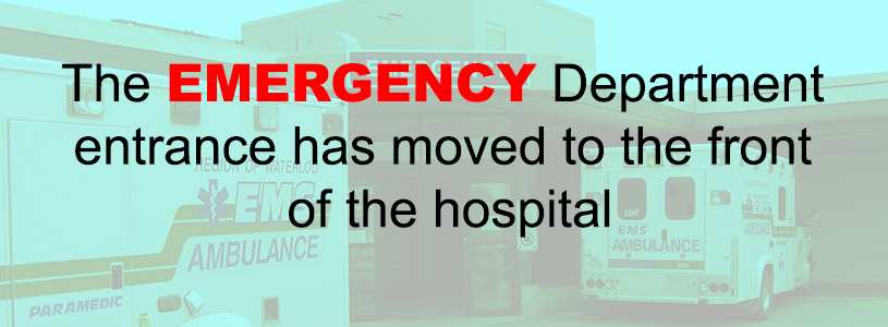 Emergency Entrance has moved