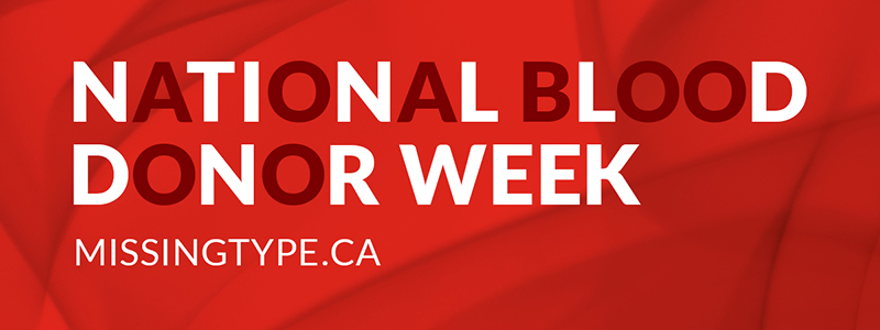 National Blood Donor Week